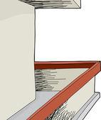 Blank Wall Balcony — Stock Vector