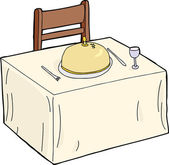 Isolated Fancy Dining Table — Stockvector