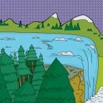 Beautiful Waterfall — Stock Vector #58991617