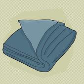 Blue Folded Towel — Stock Vector