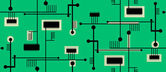 Seamless Circuit Board — Stock Vector