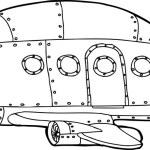 Outline of Empty Jetliner — Stock Vector #61799587