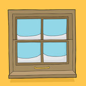 Window Panes with Snow — Stock Vector