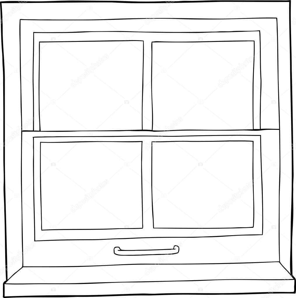 Fen tre de dessin anim de structure image vectorielle for Fenetre de connexion