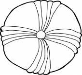 Echinoderm Fossil Outline — Stock Vector