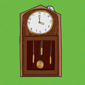Hickory Dickory Dock Clock — Stock Vector
