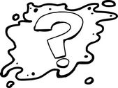 Outlined Question Mark — Stock Vector