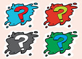 Set of Question Mark Avatars — Stock Vector