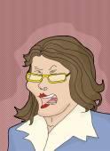 Enraged Caucasian Businesswoman — Stock Vector