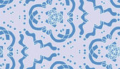 Repeating Blue Kaleidoscope Pattern — Stock Vector