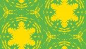 Seamless Yellow Kaleidoscope Pattern — Stock Vector