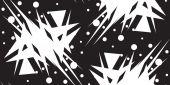 White Shattered Triangular Shapes — Stock Vector