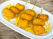 Ration of Croquettes. Typical tapa in Spain. — Stock Photo