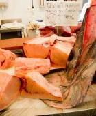 Swordfish pieces in a market. — Stock Photo