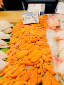 Fresh fish roes in a market. — Stock Photo