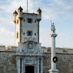 La puerta de Tierra and Torreon de Puerta de Tierra. Cadiz, Spain. — Stock Photo #60474789