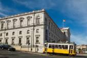 Lisbon Parliament and tram in Bairro Alto district, Lisbon. — Foto Stock