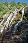 Caozo waterfall in Valle del Jerte, Caceres. Spain — Stock Photo