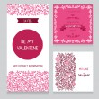 Set of valentine day cards — Stock Vector #53801971