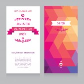 Valentines day party invitation, design template — Vecteur