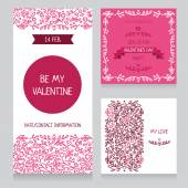 Set of valentine day cards — Stock Vector