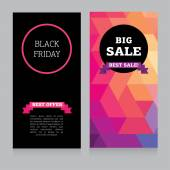 Set of design template for black friday sale — Stock Vector
