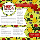 Menu design template, can be used as web page — Stock Vector