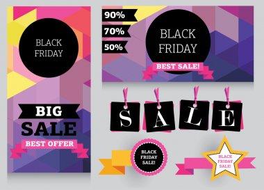 Set of design template for black friday sale