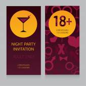 Template for night party invitation — Stock Vector