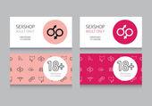Business card for sex shop — Stockvector
