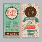 Templates for christmas sale  banners — Stock Vector