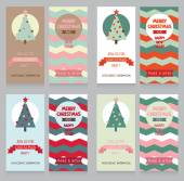 Cute banners for christmas party — Stock Vector