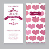 Invitation template for Valentine's Day — Stockvektor