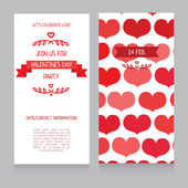 Invitation template for Valentine's Day — Vecteur
