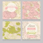 Floral set for wedding decoration — Stock Vector