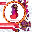 Happy diwali card with paisley ornament — Stock Vector #56794809