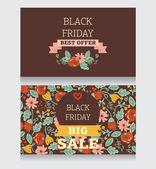 Plantilla de diseño para la venta de viernes negro — Vector de stock