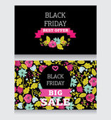 Design template for black friday sale — Stock Vector