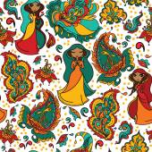 Fond transparent indien, illustration vectorielle — Vecteur