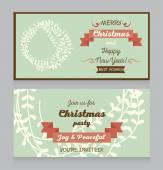 Christmas greeting card — Cтоковый вектор
