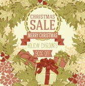 Christmas sale banner — Stock Vector