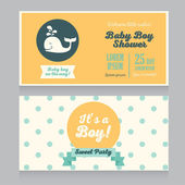 Baby boy arrival cards template — Vettoriale Stock