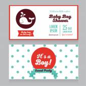 Baby boy arrival cards template — Stock Vector