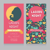 Template for Ladies night party in retro style — Stock Vector