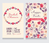 Bridal Shower invitation card — Vetor de Stock