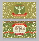 Hanukkah greeting cards — Stock Vector