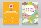 Design template for travel agency banner — Stock Vector