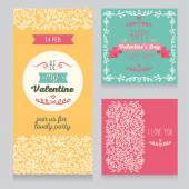 Invitation for Valentine's Day party — Wektor stockowy