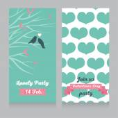 Valentines day party invitations — Stock Vector