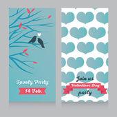 Valentines day party invitations — Stockvector